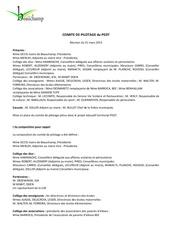 cr mairie reunion du comite de pilotage 31 mars 2015