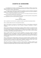charte du gendarme