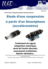 tuto etude suspension avec accelerometre de smarthphone