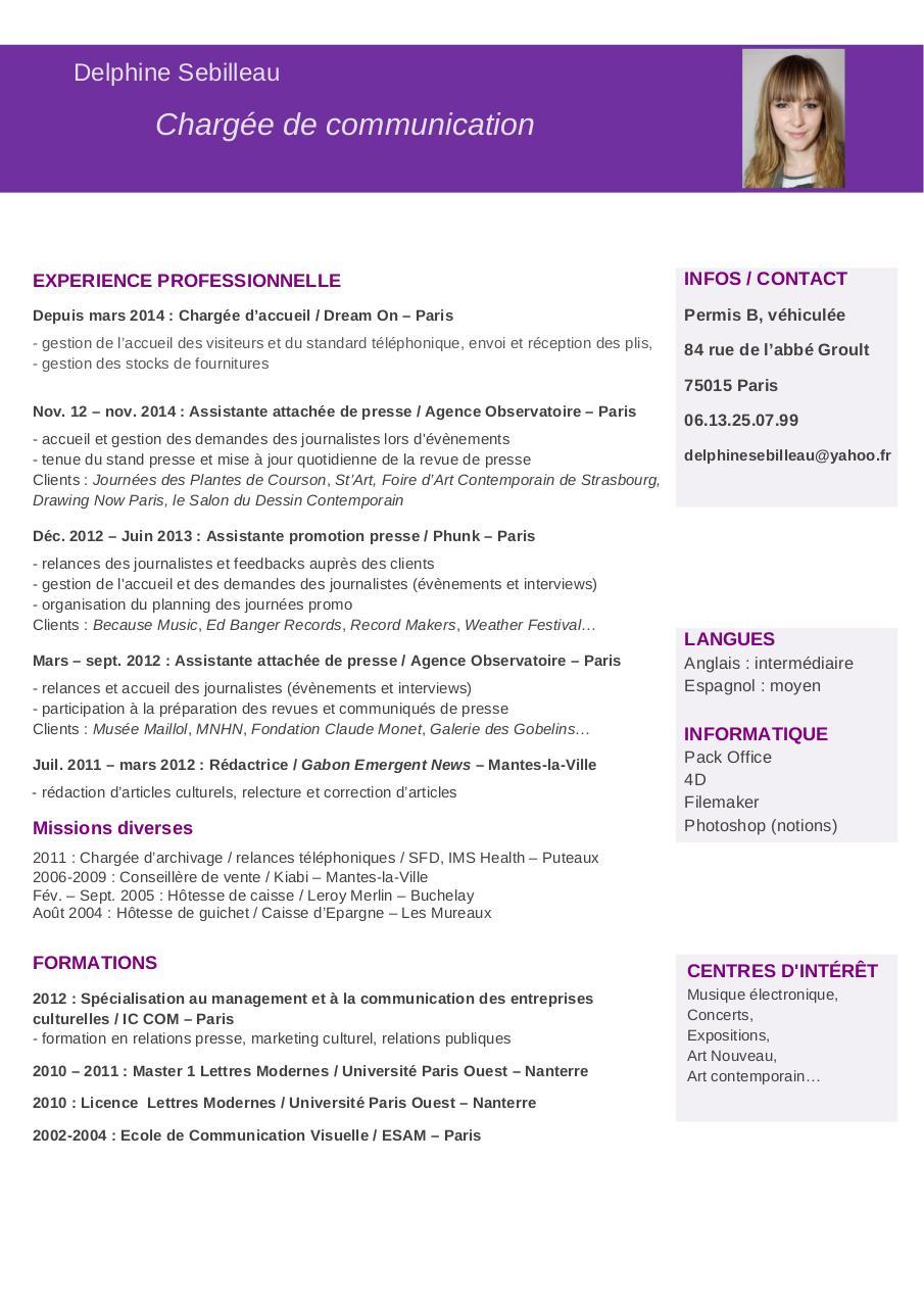 cv mai 2015 bis doc par accueil - cv d sebilleau-charg u00e9e de communication-mai-2015 pdf
