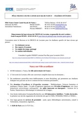 dossier information pfjn filieres d etudes