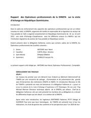 rapport visite d echange en republique dominicaine