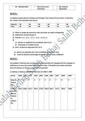 serie statistique bac sciences