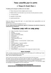 Fichier PDF tenue conseillee pour le centre