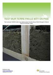 test mur terre paille