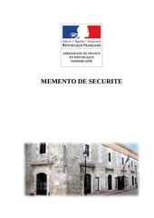 memento de securite