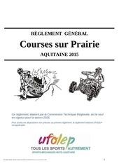 reglement general courses sur prairie 2015