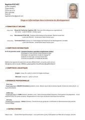 Fichier PDF cv rochez