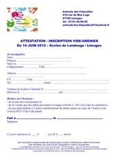 Fichier PDF inscription vide grenier