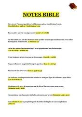 Fichier PDF notes bible