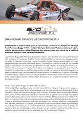 communique de presse championnat europe evosprint