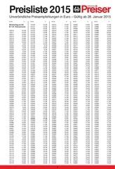 preaiser tarif 2015