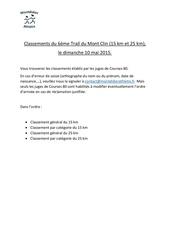 trail du mont clin 2015 classements 1