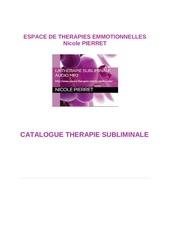catalogue therapie subliminale 1