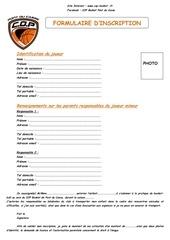 Fichier PDF formulaire cop