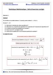 Fichier PDF statistique mathematique serie d exercices corriges