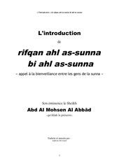 al abbad introduction a rifqan ahl as sunna
