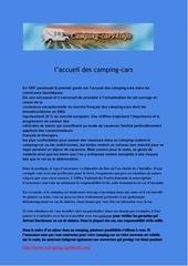 l accueil des camping cars