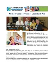 memory care services st louis park mn