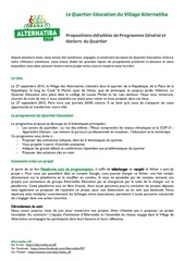 programmation du quartier education alternatiba idf
