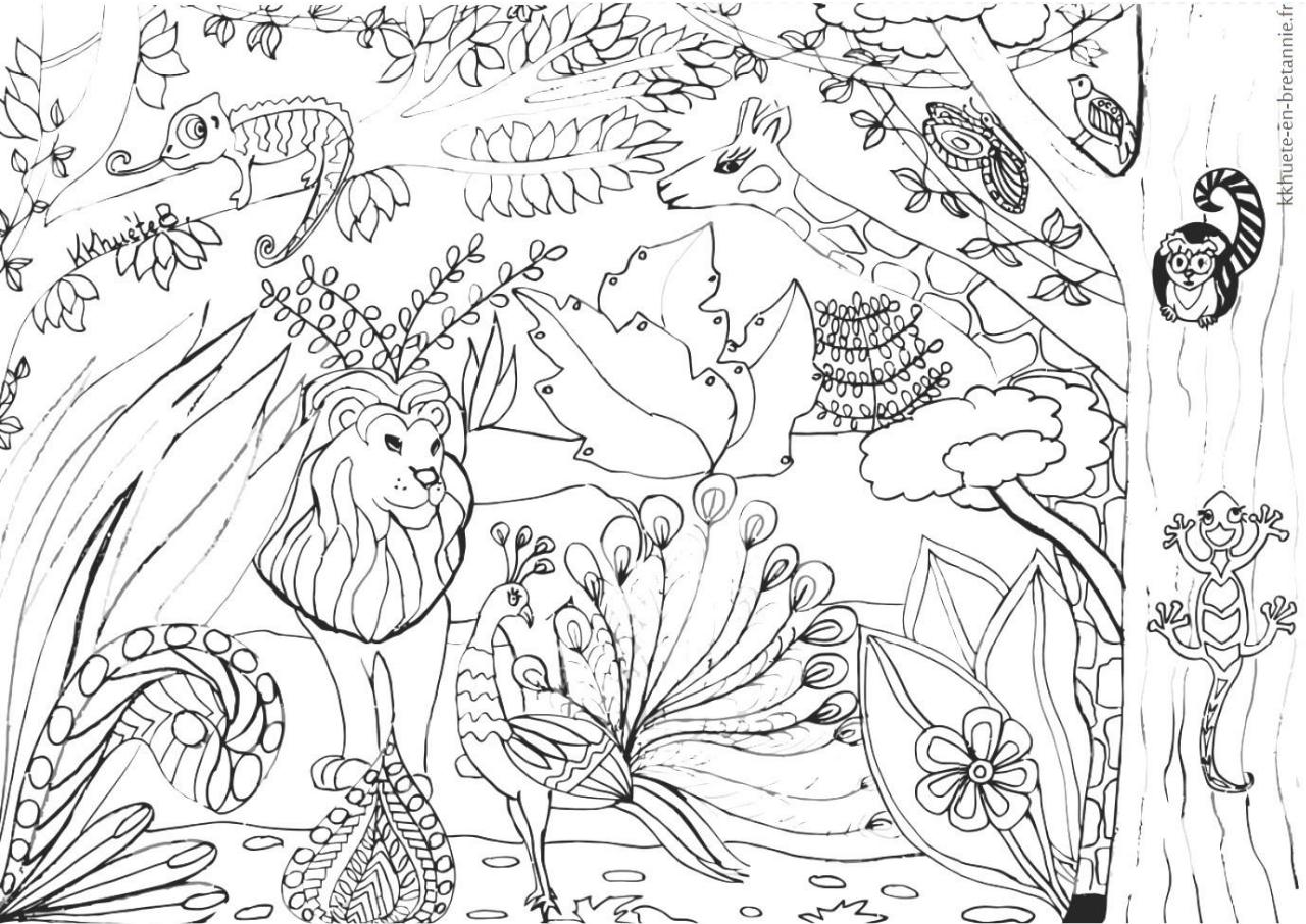 Coloriage Zen Savane Par Johann Fichier Pdf