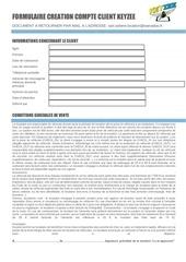 formulaire creation compte client keyzee pdf