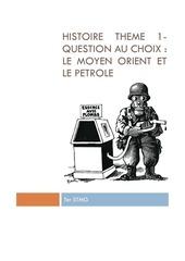 histoire theme 1 question au choix le mo et le petrole