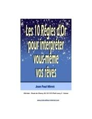 Fichier PDF les 10 regles d or pour interpreter vos reves 2