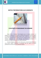 notes d informations