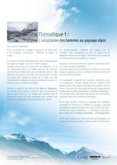 1 l adaptation de l homme en paysage alpin