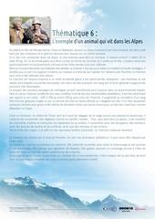 6 l exemple d un animal qui vit dans les alpes