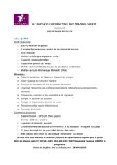 offres al ta adhod secretaire executif 2015 fr