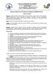 proces verbal conseil d administration jeudi 7 mai 2015