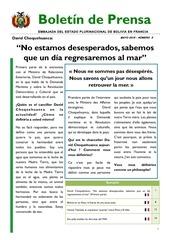 bolet n de prensa embajada del estado plurinacional de bolivia mayo 2015