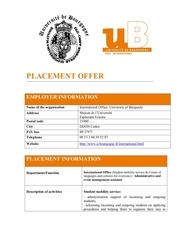 placement offer university of burgundy