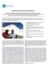 spirulina powering everest expedition