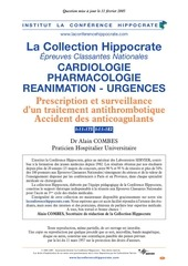 accidents des anticoagulants