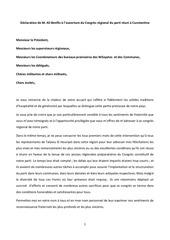 declaration de m ali benflis a l ouverture du congres regional du parti reuni a constantine