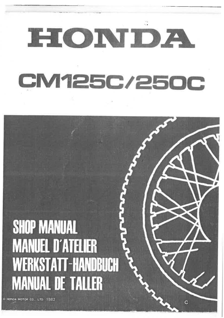 honda cm125c manuel d 39 atelier 6641901x additif 1982. Black Bedroom Furniture Sets. Home Design Ideas