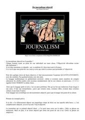 du journalisme objectif