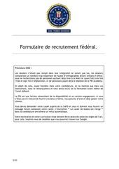 formulaire de recrutement federal 1