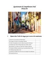 questionnaire de comprehension orale sur cuba