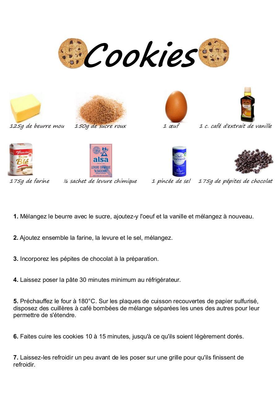 Recette cookies en images pdf2 recette cookies en images - Telecharger recette de cuisine algerienne pdf ...