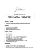 assistante production