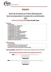 ensi cycle formation pmp