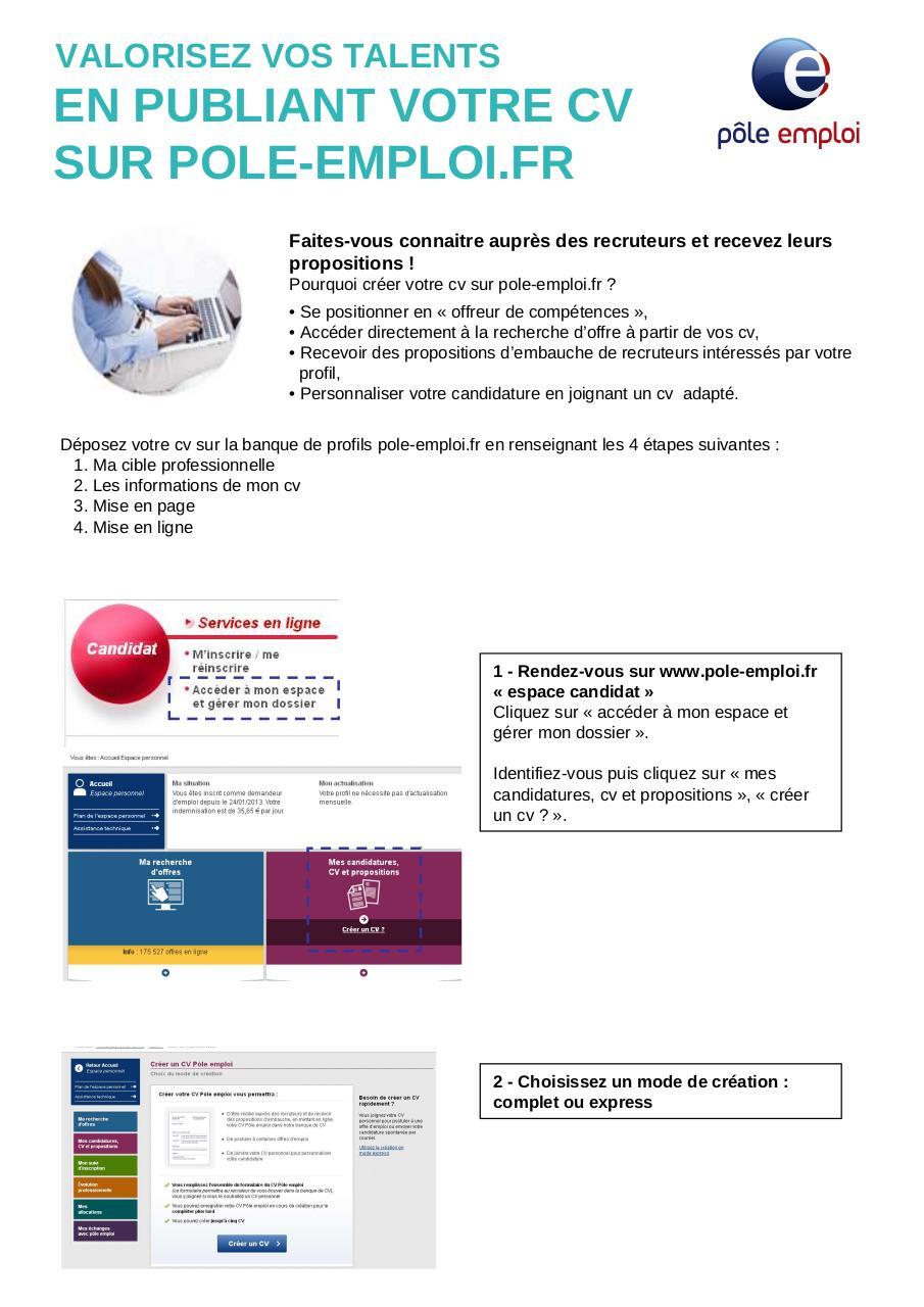 rv valorisez vos talents cv en ligne par isca3300