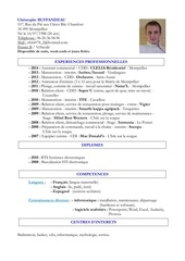 Fichier PDF cv christophe