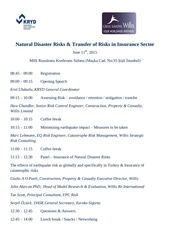 natural disaster risks event schedule 11th june