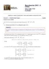 bac s 2015 liban math93 corr