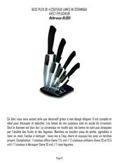 bloc de couteaux page 12 a 21
